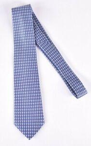 Ermenegildo Zegna NWOT Silk Neck Tie Light Blue Pink & Ivory Current