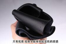 Practical Genuine Leather DIY 37-38cm Diameter Steering Wheel Cover Needle Black