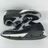 Men's Size 10.5 Black Wolf Grey Air Max 90 Sneakers