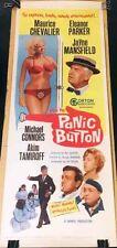 PANIC BUTTON! '64 J.MANSFIELD, M.CHEVALIER ORIGINAL INSERT FILM POSTER!