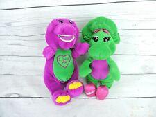 "Vintage Lyons Barney Baby Bop Singing Plush Doll 11"" Stuffed Animal I Love You"