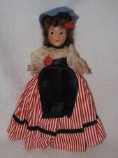 """11"""" Vintage Composition Painted Eye French Doll"""