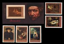 RUSSIA. Rembrandt Paintings in Russian Museums. 1976. SC 4511-4516 MNH (BI#MKA)