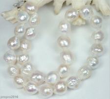 Huge Natural 12-13MM Australian South Seas kasumi White Pearl Necklace 18""