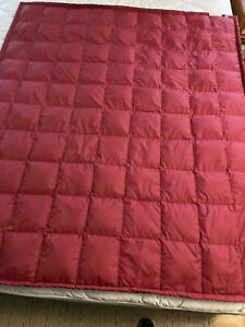 Eddie Bauer Blanket Throw Premium Goose Down 58 X 50 Inches Camping Outdoor