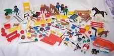 Huge Playmobil Lot:Polar Bear,Police Boat,Shell,Horse,Calf,Construction,Military