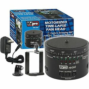 "Vidpro 360-Degree Time Lapse Photography Pan Head+GoPro Camera Adapter 1/4""-20"