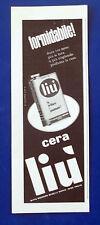 A538-Advertising Pubblicità-1960-LIU' CERA PER PAVIMENTI
