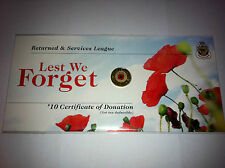 2012 UNC $2 REMEMBRANCE DAY RED POPPY COIN ON RSL CARD