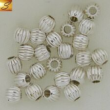 3mm Corrugated Sterling Silver Beads (Pkg 25)
