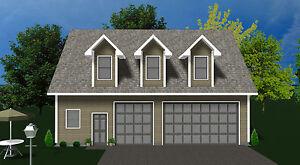 Barn Style Shell Guest ADU House Cabin Kit Garage Studio Apartment Granny Flat