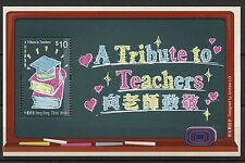 A Tribute to Teachers mnh souvenir sheet 2016 Hong Kong