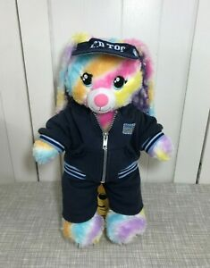 💜 Build A Bear Rainbow Spring Striped Bunny Rabbit w/ Limited Too Dance Suit