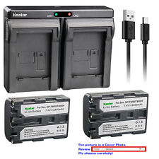 Kastar Battery Dual Charger for Sony NP-FM50 BCVM50 & Cyber-shot DSC-F828 DSC-R1