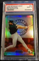 1995 MARK MCGWIRE BOWMAN'S BEST RED REFRACTOR #69 CENTERED PSA 9 POP 20 (503)