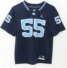 New North Carolina Unc Tar Heels 55 Navy Nike Jordan Football Jersey Youth M