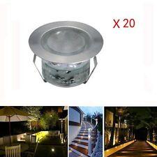 LED Deck Lighting Kit Stainless Steel Waterproof Outdoor Garden In-ground Lights