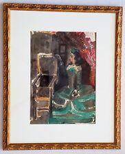 PABLO PICASSO Original Lithograph CONTEMPLATING THE THRONE 1959 Museum Framing