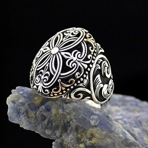 Solid 925 Sterling Silver Traditional Design Men's Ring