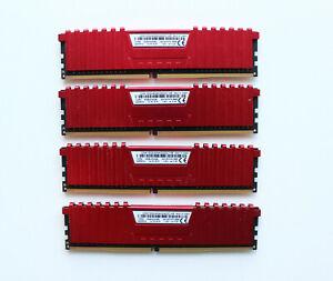 Corsair VENGEANCE LPX 16GB (4 x 4GB) DDR4 DRAM 2400MHz C14 Memory Kit - Red