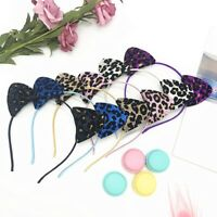 Creative Women Sequin Leopard Print Cat Ear Headband Hair Band Cosplay PartyDeco