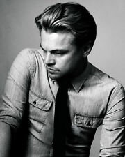 Leonardo DiCaprio Moody BW 10x8 Photo
