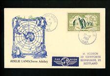 Postal History France / FSAT Scott #C1-C2 Penguins 9/30/1959 Terre Adelie