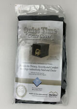 Mid West Quiet Time Polyester Crate Cover 24 Inch Black. **Free Shipping**