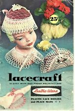 Lacecraft - Lustri Ware Plastic Lace Doilies and Placemats Craft Patterns - 1960
