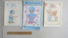 LOT OF  MISC 80-90's PRECIOUS MOMENTS Designs and Transfer by Gloria & Pat
