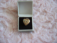 VICTORIAN 9CT GOLD HALLMARKED LOCKET WITH TURQUOUISE & SEED PEARLS