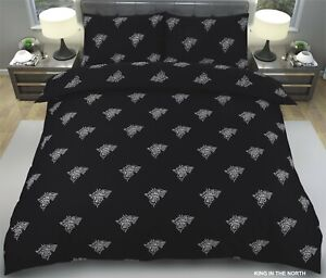 Game of Throne Theme Design King in the North 3D Duvet Cover set with Pillowcase