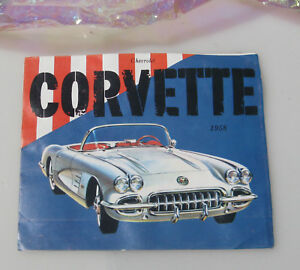 1958 Chevrolet Corvette Color Sales Brochure Original Pictures of Car Specs Old