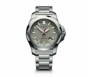 New Victorinox Pro Diver INOX Stainless Steel Gray Dial Men's Watch 241739