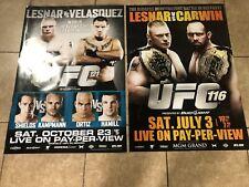2 UFC 116 & 121 LESNER VS CARWIN And VELASQUEZ FULL SIZE POSTER