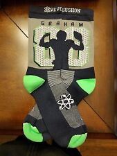 "Seattle Seahawks ""88 Grahams"" socks (Mens,XL, Gray)"