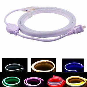 LED Neon Rope Strip Light 2835 SMD 120leds/m AC110/220V DC12V Single Color Light
