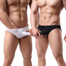 Mens Underwear for Sex Shorts Trunk Boxer Briefs Sexy Bikini Front Open G-string