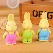 Funny Rubber New Rabbit Pencil Erase Rubber Stationary Kid Gift Toy Rubber ~1PC