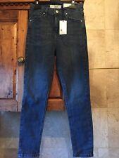 BNWT Topshop Jamie Blue jeans size 12 W30 waist leg  L30  Xmas Gift ? High Waist