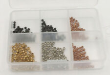 """400 Assorted Brass Beads for Fly Tying w/case - 3/32"""" 2.5mm Mat237"""