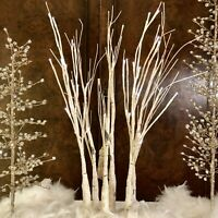 "Fantastic Craft Birch Tree Cluster LED Micro Light White 28"" Cream Z0851RM"