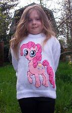 My Little Pony lavoro a maglia Motivo, Pinkie Pie, DK 24 a 34 pollici sul petto. Natale.