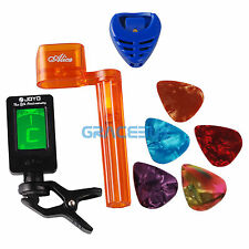 JOYO Mini Guitar Tuner + String Winder + Pick holder + 5 Guitar Picks Tool Kits