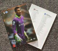 Fulham v Brighton & Hove Albion PREMIER LEAGUE Programme 15/12/20 READY TO POST!