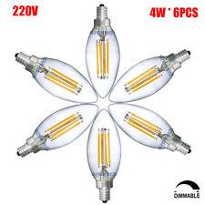 E14 Warm White Dimmable Edison Lamp C35 4W Vintage 220V LED Candle Light Bulb X6
