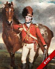 MAJOR GEORGE O'SHEA LOYAL CORK LEGION & HORSE PAINTING ART REAL CANVAS PRINT
