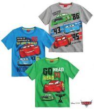 Disney Cars Boys Short Sleeve T-Shirt - Green/ Grey/ Blue