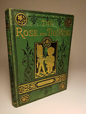 1876 'THE ROSE & THE RING' by THACKERAY W/ HIS ILLUSTRATIONS ROYAL CARICATURES