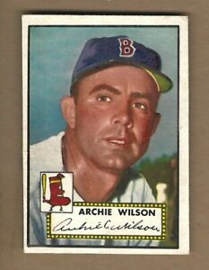 1952  TOPPS    ARCHIE  WILSON  #  327   NICE  HIGH  NUMBER